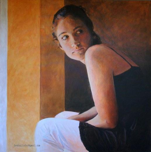 retrato acrílico 100x100